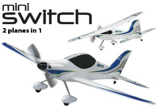 FlyZone - Mini Switch 2-in-1 Sport EP RTF / zum Hammerpreis / FLZA3320